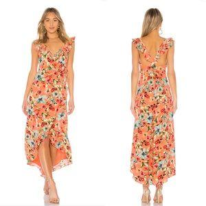 NEW Privacy Please Fillmore Floral Wrap Maxi Dress